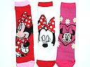 Minnie Mouse kindersokken in rood, wit, en fuchsia